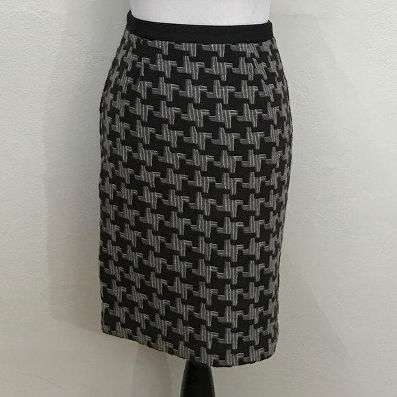 d79243aa7 Boden Skirts | Black Gray Wool Pencil Skirt Lined | Poshmark